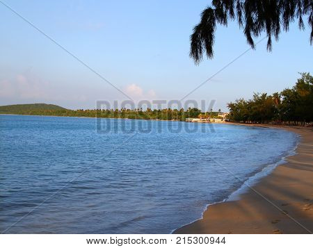 Twilight scenery at Seven Seas Beach near Fajardo Puerto Rico