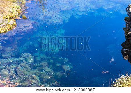 Water In Silfra Fissure In Valley Of Thingvellir