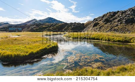 Hot River In Landmannalaugar In Iceland