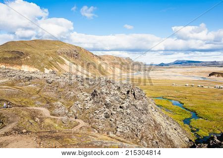 Panorama In Landmannalaugar Area In Iceland