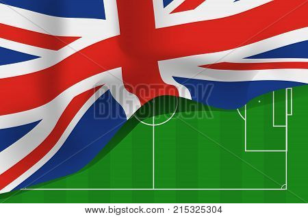 Great Britain flag, United Kingdom flag vector icon
