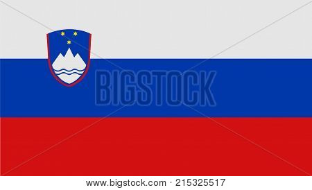 National symbol of Slovenia. Slovenia flag, official colors and proportion correctly. National flag. Vector illustration.