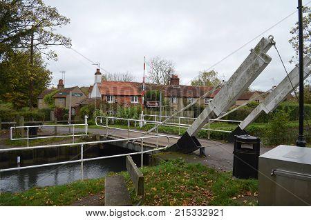 The Basingstoke Canal Hampshire near North Warnborough
