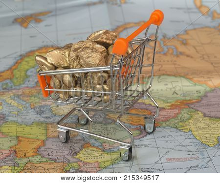 discovery gold mine and take it with shopping cart