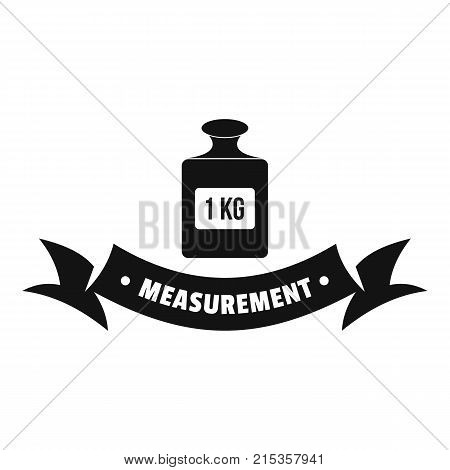 One kg logo. Simple illustration of one kg vector logo for web