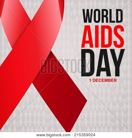 Aids Awareness Red Vector & Photo (Free Trial) | Bigstock