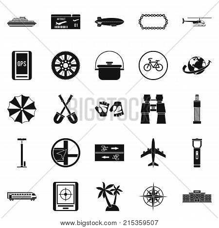 Voyage icons set. Simple set of 25 voyage vector icons for web isolated on white background