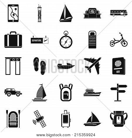 Voyage spot icons set. Simple set of 25 voyage spot vector icons for web isolated on white background