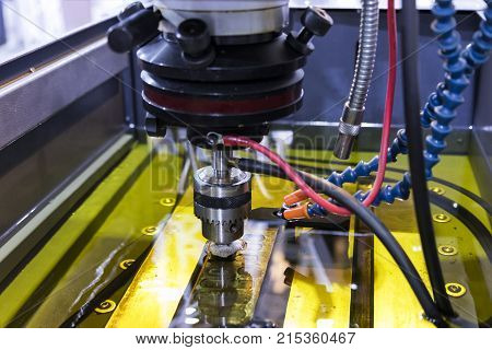 Electrical discharge machining ;spark machining spark eroding burning die sinking wire burning wire erosion