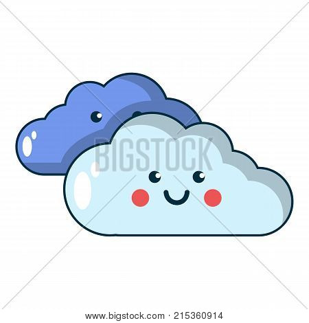 Kind cloud icon. Cartoon illustration of kind cloud vector icon for web