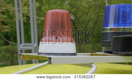 Flashing Indicators On A Roof Of The Police Car Costs.