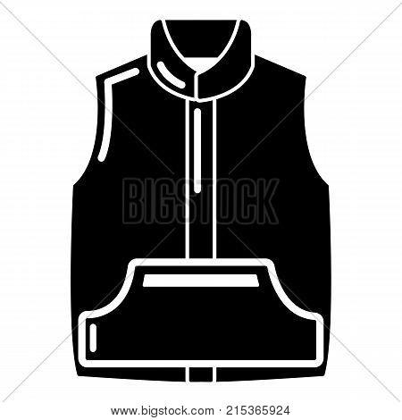 Sleeveless jacket icon. Simple illustration of sleeveless jacket vector icon for web