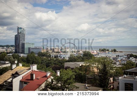 Gdynia, Poland - August 13, 2017: View For City Panorama At Gdynia.