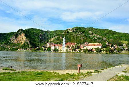 The village of Dürnstein in the Wachau  Krems-Land Austria