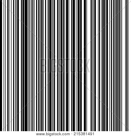 Black and White Straight Vertical Variable Width Stripes, Monochrome Lines Pattern, Vertically Seamless, Straight Parallel Vertical Lines, Fashion Geometric Monochrome Random Streaks