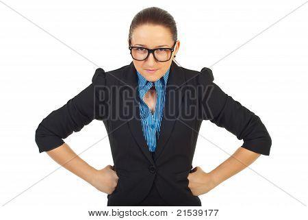 Furious Business Woman