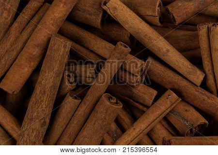 Cinnamon Sticks Spice Closeup