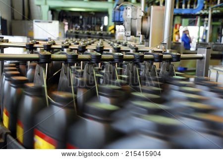 Industrial plant of automotive lubricant factory poster