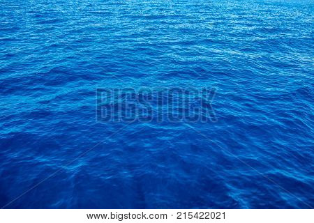 Just deep blue sea and small waves
