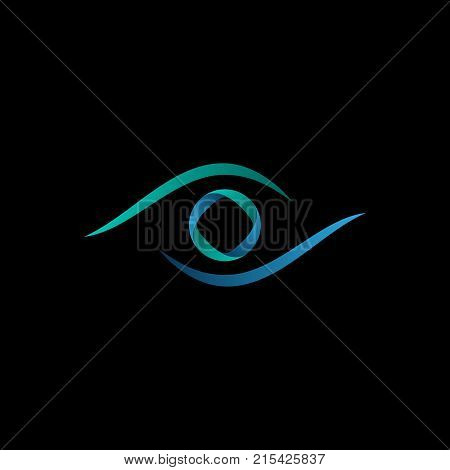 Technology eye orbit web rings logo design. Vector circle ring logo design. Abstract circle logo template. Round ring circle and infinity loop symbol, technology icon, circle line logo. Company logo. Vector illustration EPS.8 EPS.10
