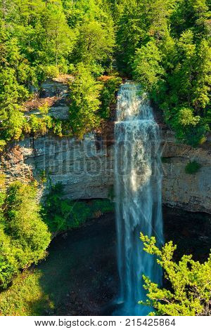 Fall Creek Falls the highest free-fall waterfall in the eastern United States in southeastern Tennessee