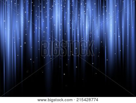 Polar Glow Flare Vector Abstract Background of Aurora Borealis Light Effect Colorful Purple Violet Shining Waves Vertical Undulating Pulsing Rays. Decorative Design.