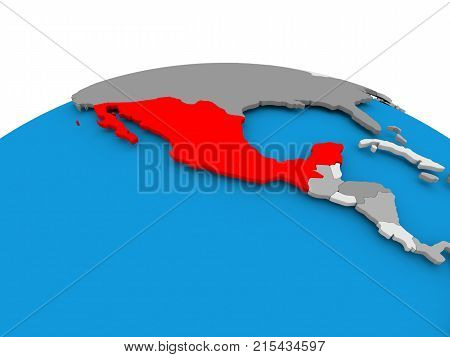 Mexico On Political Globe