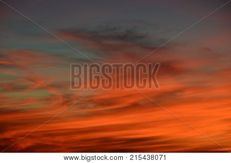 background of sunset southern Bohemia Czech Republic