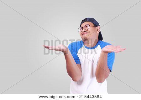 Shrug Shoulder Up Showing I Don't Know Gesture