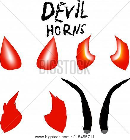 Devil Horns Vector isolated satan horns Symbol Illustration.