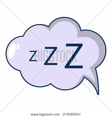 Snoring icon. Cartoon illustration of snoring vector icon for web