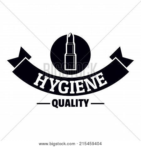 Hygiene lipstick logo. Simple illustration of hygiene lipstick vector logo for web