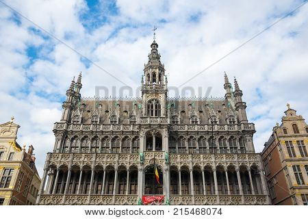 Brussels, Belgium - April 22, 2017: Brussels City Museum, locate on the famous Grand Place - Brussels, Belgium