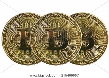 golden bitcoin coin. cryptocurrency. New virtual money.