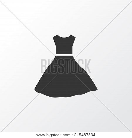 Evening gown icon symbol. Premium quality isolated sundress element in trendy style.
