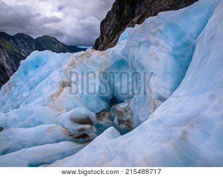 Landscape Of Blue Ice And Mountains