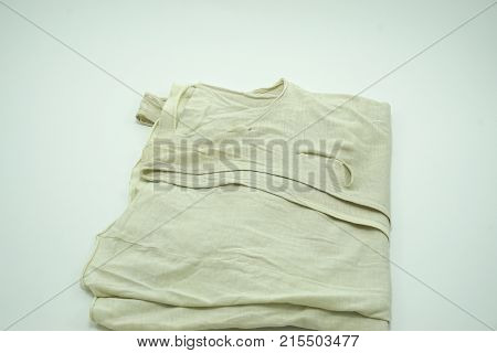 Old Tank Top is lacking isolated on white background