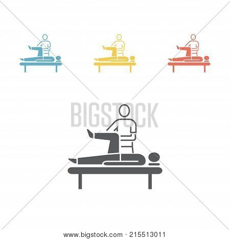 Massage Icon. Flat icon. Vector signs for web graphics
