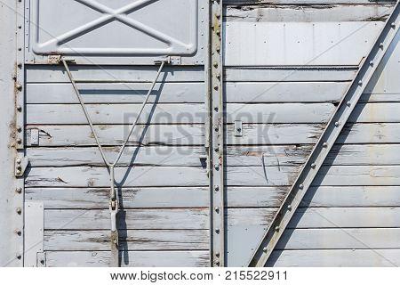 Door Of An Old Train Carriage
