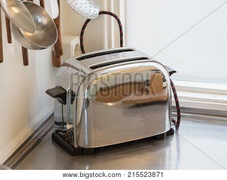 Vintage Toaster In A Kitchen