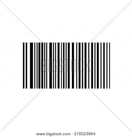 Barcode. Bar code for web. Simple icon isolated on white background. Vector illustration.