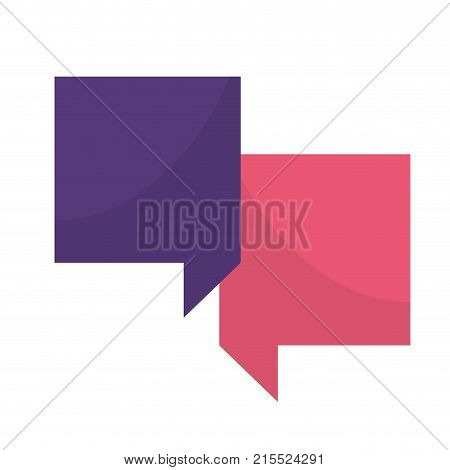 Communication bubbles of message discussion and conversation theme Isolated design Vector illustration