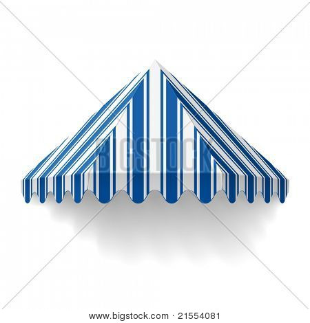 Awning. Vector.