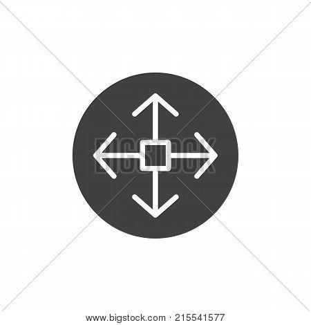 Remote controller joystick icon vector, filled flat sign, solid pictogram isolated on white. Navigation symbol, logo illustration.