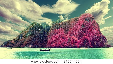 Scenery Thailand sea and island. Phuket beach