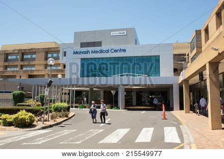 Melbourne, Australia - November 19, 2017: Monash Medical Centre is a teaching hospital in Clayton in Melbourne's south-east. It is affiliated with Monash University.