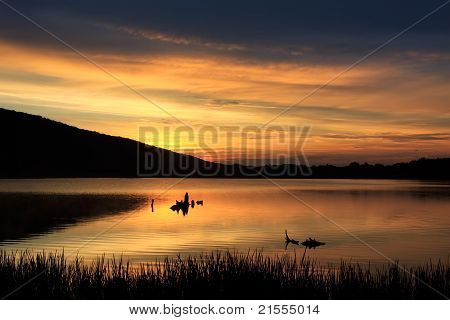 Sunrise at Locust Lake