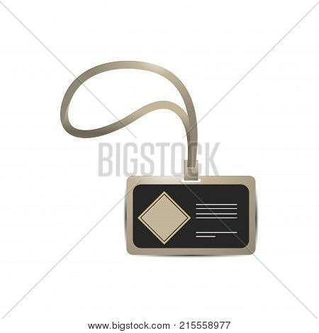 Personal card with template of corporate identity and branding theme Isolated design Vector illustration