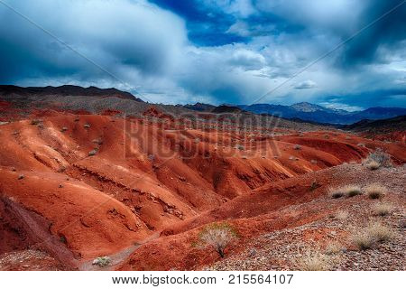 Amazing colors and shape of the rocks in Valley of Fire State Park, Nevada, USA