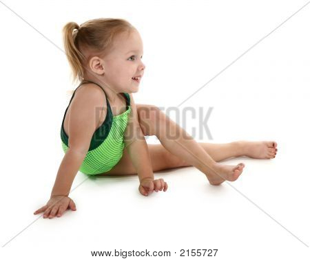 Toddler Girl In Leotard